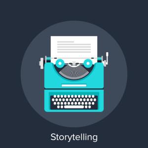 Vector illustration of storytelling flat design concept.